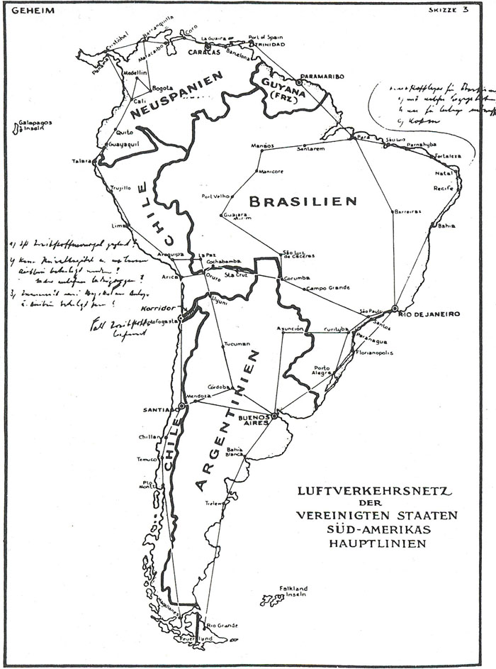 "The ""secret map"" cited by President Roosevelt as proof of German plans to take over South America was produced by British intelligence and passed on to the White House by William Donovan."